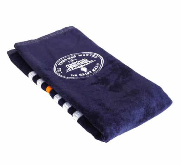 Mini serviette Bleu Marine à rayures 1