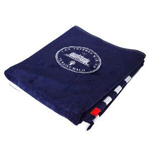 Drap de bain Bleu Marine à rayures